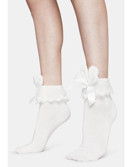 Love Bunny Ruffle Socks