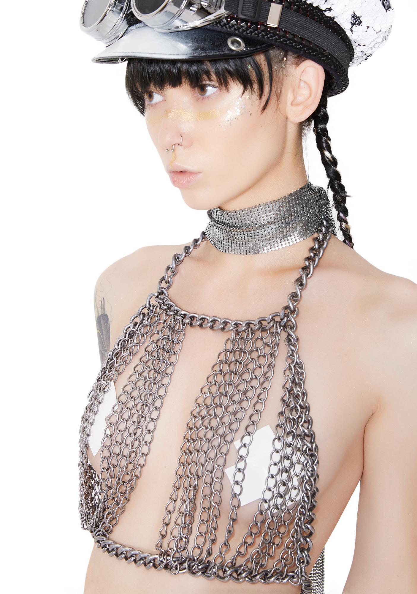 Kiki Riki Ringleader Chain Halter Top