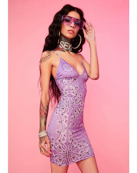 Lilac Ride It Out Mini Dress