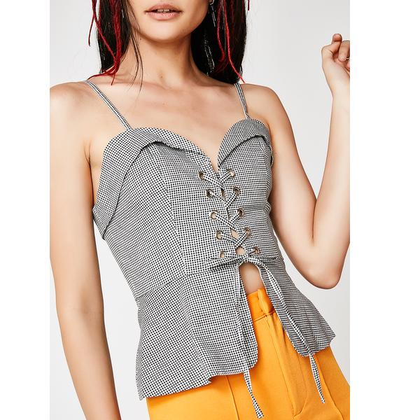 Play Nice Lace-Up Bustier