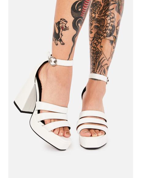 Halo OMG Babe Strappy Platform Heels