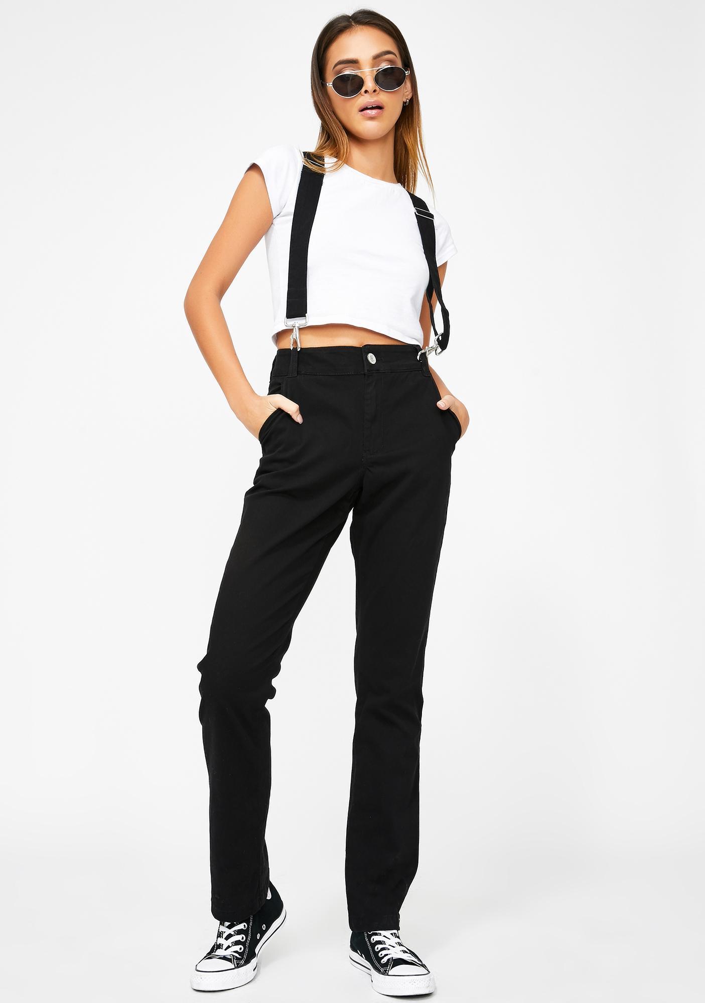 Dickies Girl Relaxed Suspender Pants
