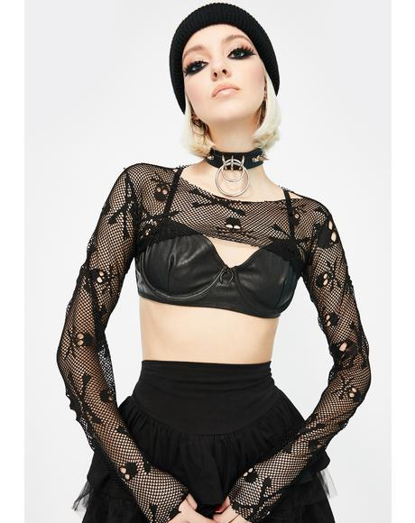 Skull Fishnet Shrug