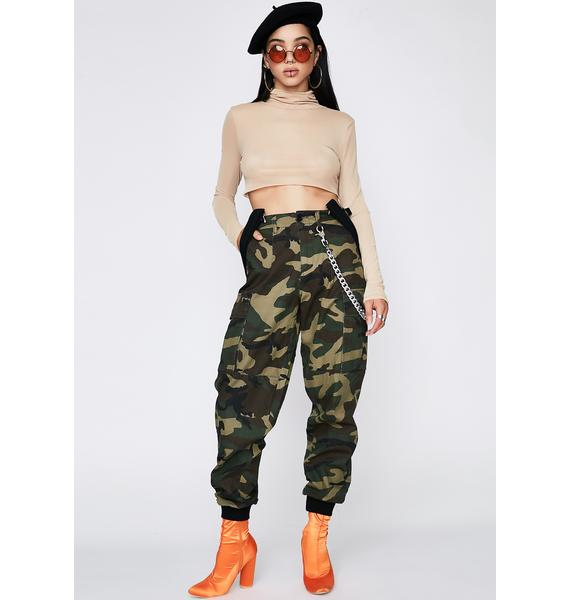 Poster Grl Battle Ready Suspender Cargo Pants