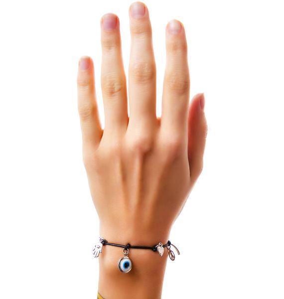 Ettika The Charmed Leather Bracelet