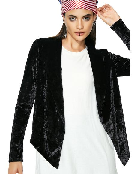 Crushed Dreams Velvet Blazer