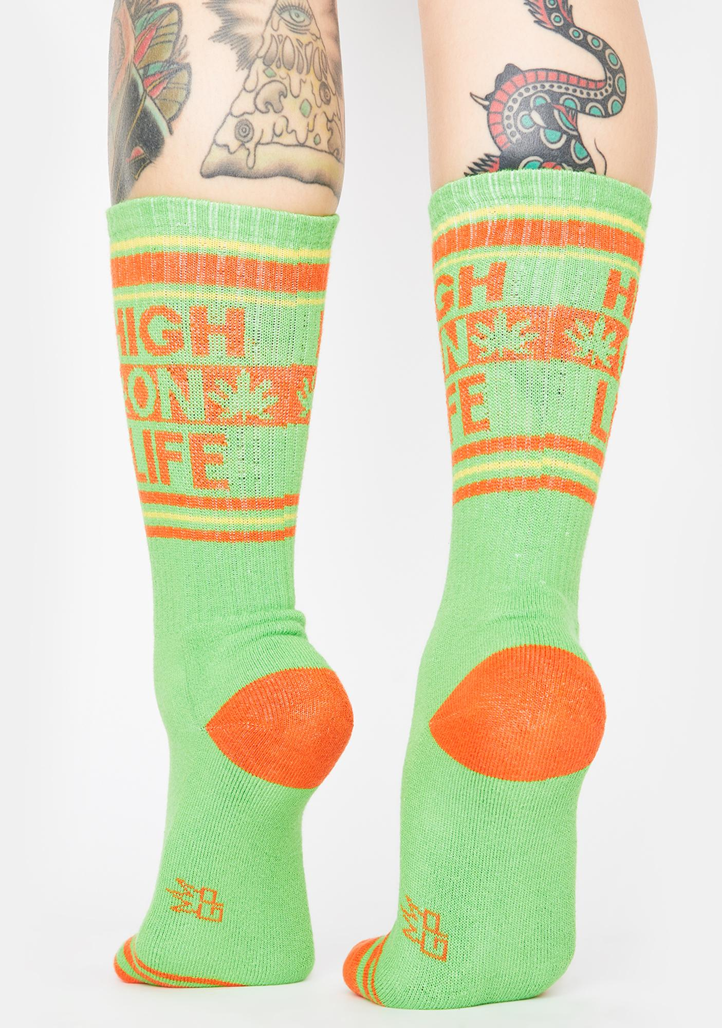 Gumball Poodle High On Life Crew Socks