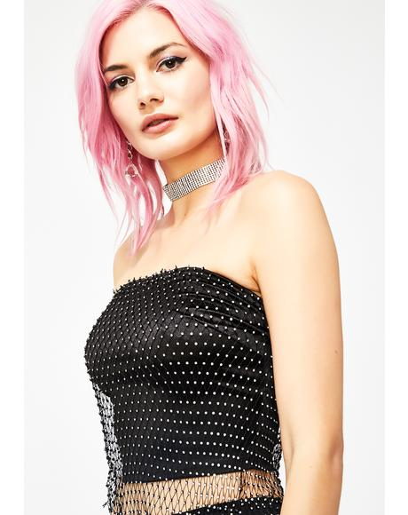 Been Fly Rhinestone Tube Top
