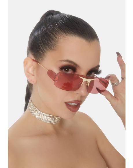 Cherry Shift The Energy Aviator Sunglasses