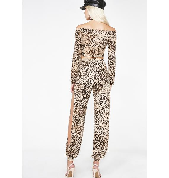 Baddie Sass Leopard Set