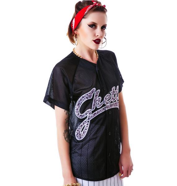 Joyrich Ghetto Bling Bling Logo Mesh Shirt