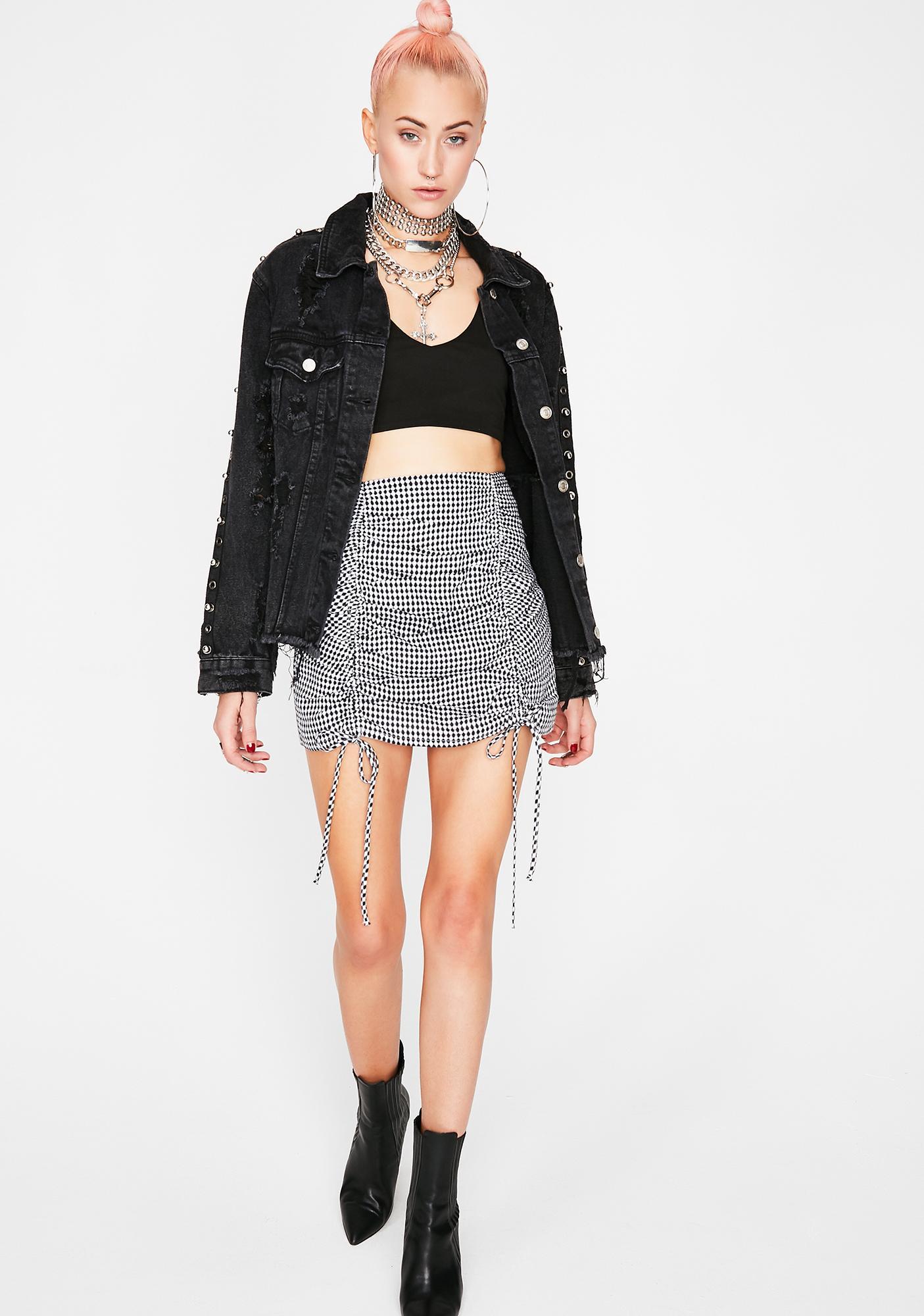 Don't Behave Gingham Skirt