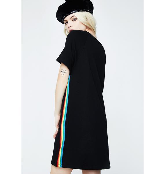 Color Flash T-Shirt Dress
