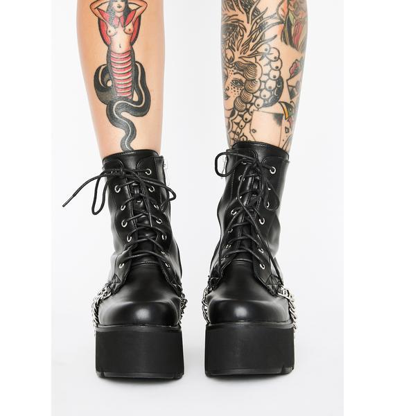 Lamoda Trapped Platform Boots