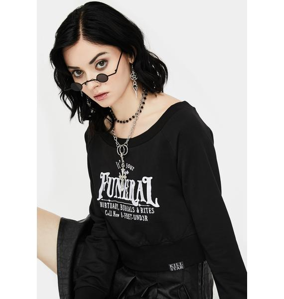 Killstar Funeral Crop Sweater
