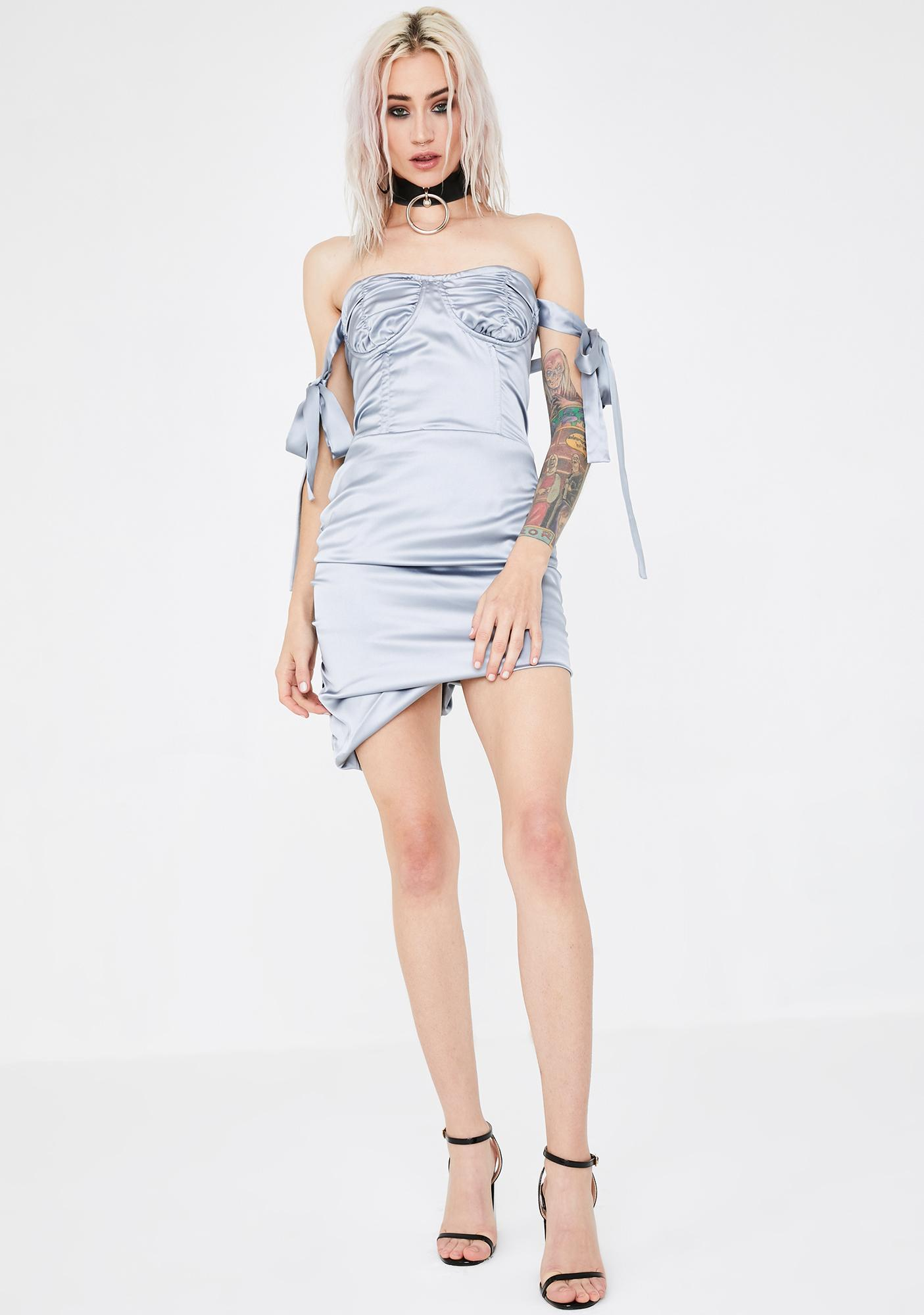 Lioness Silver Senorita Mini Dress