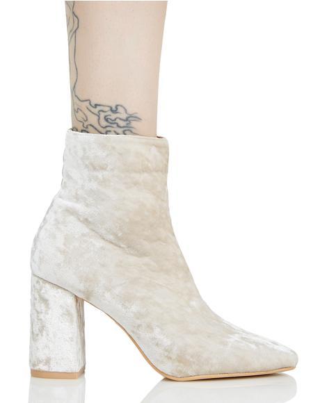 Cleo Velvet Ankle Boots