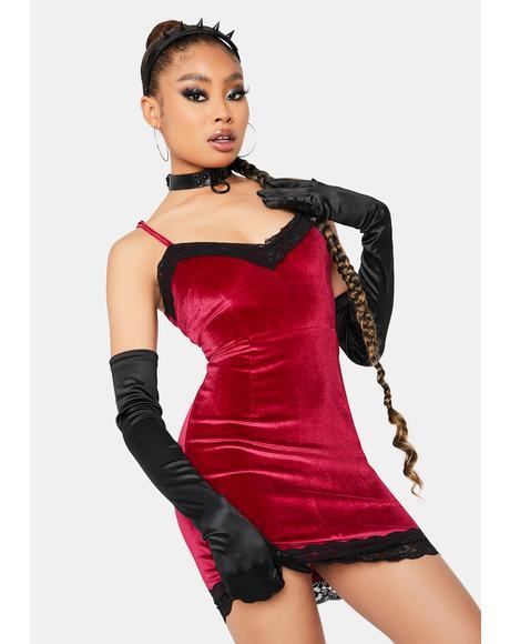 Miss Independent Velvet Bodycon Dress