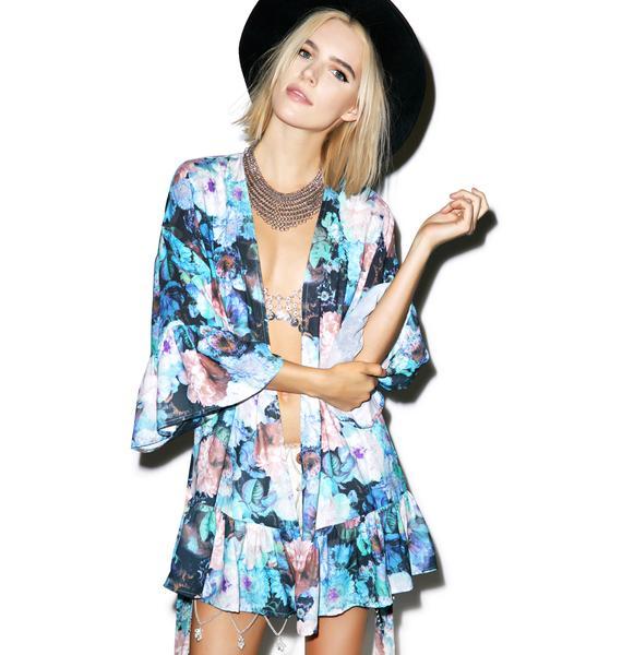 Somedays Lovin Graceless Floral Kimono
