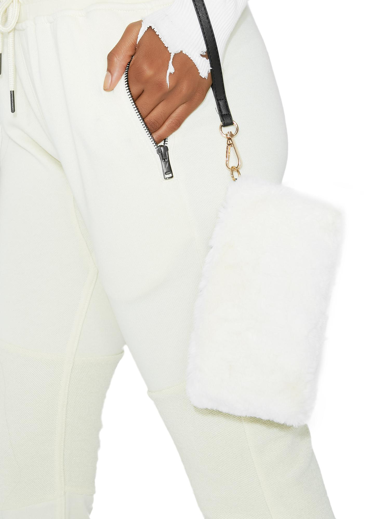 Just A Touch Fuzzy Wristlet