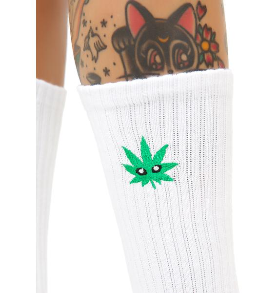 HUF Cmon Leaf Plantlife Crew Sock
