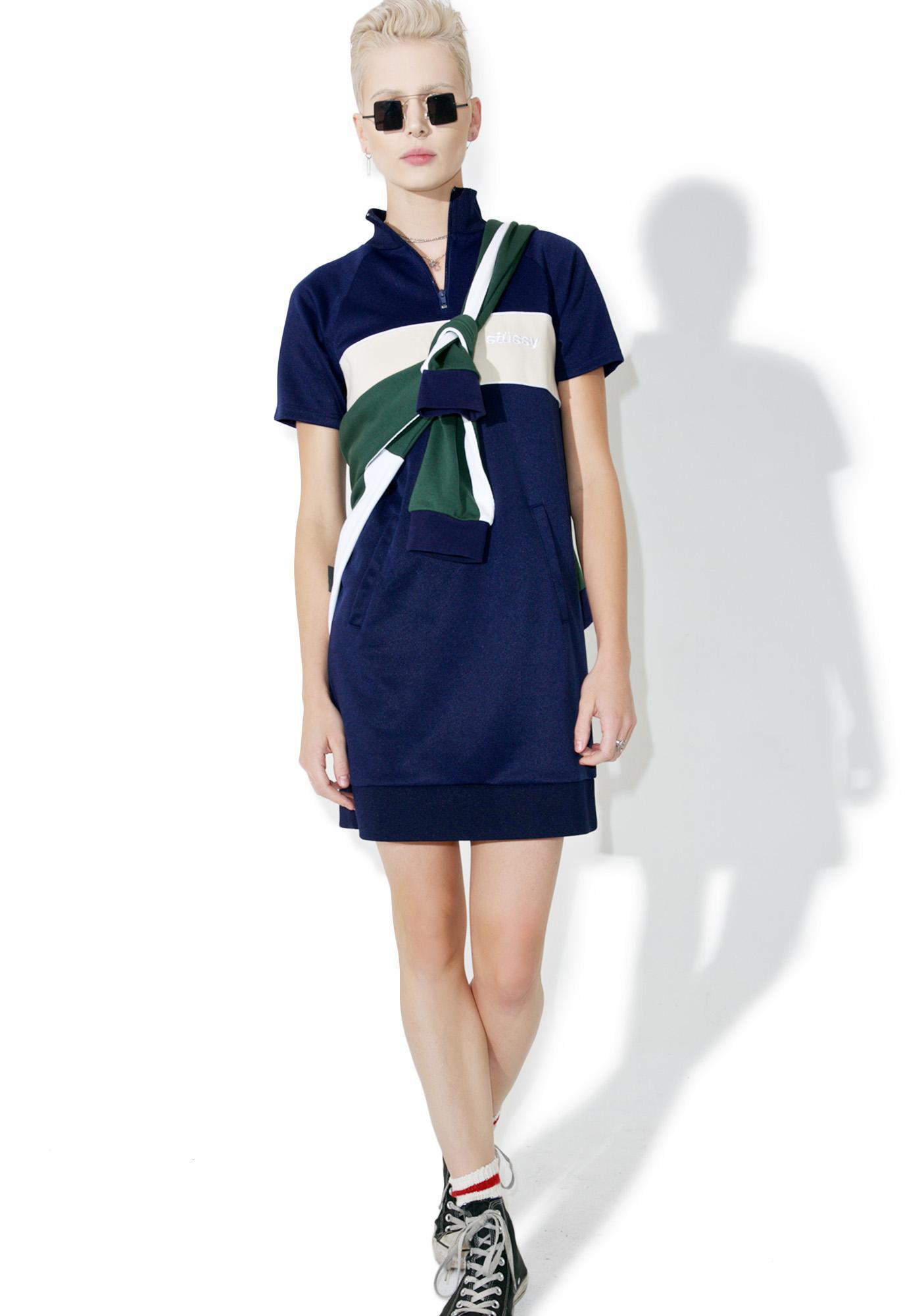 Stussy Navy Mercedes Dress