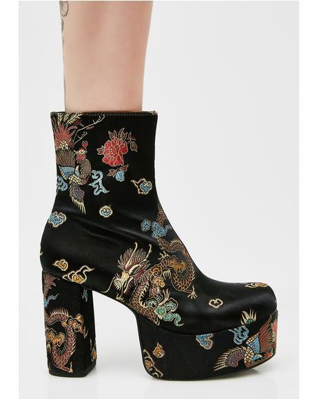 Spittin' Fiyah Brocade Boots