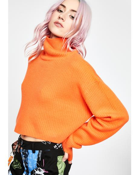 Vibrant Space Crop Sweater