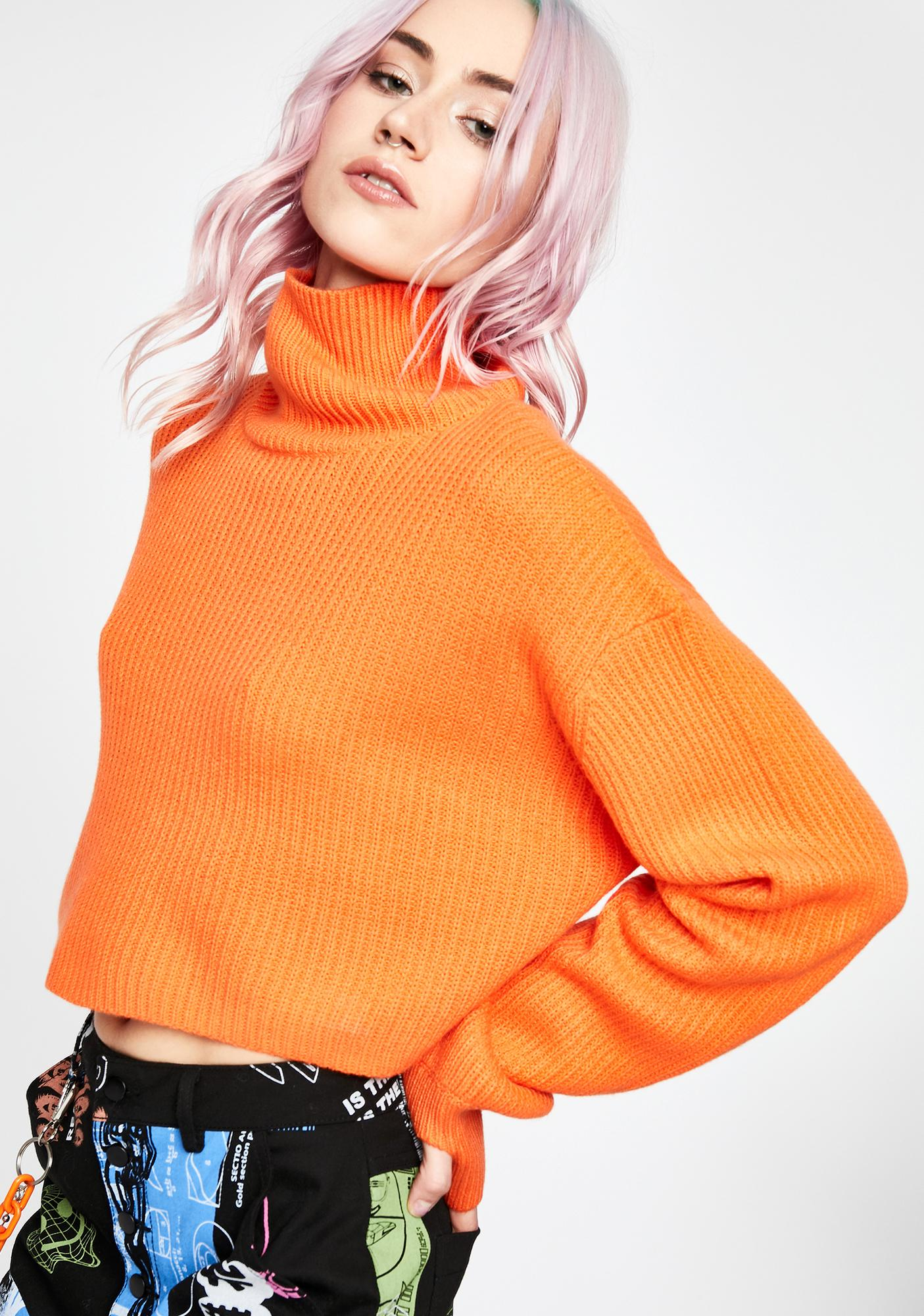 Current Mood Vibrant Space Crop Sweater