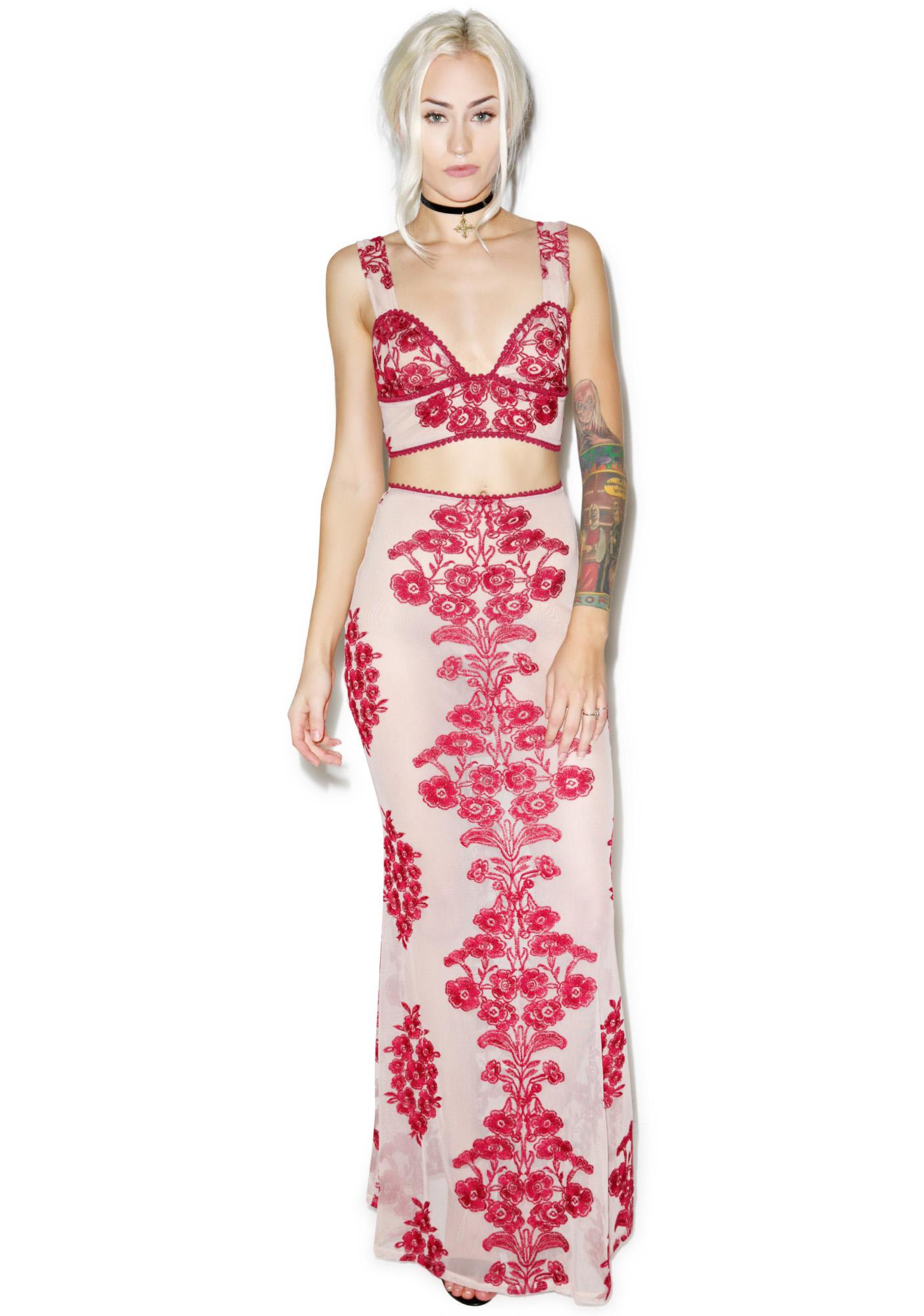 For Love & Lemons Temecula Maxi Skirt