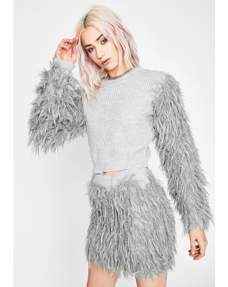 Dove It's Furreal Crop Sweater