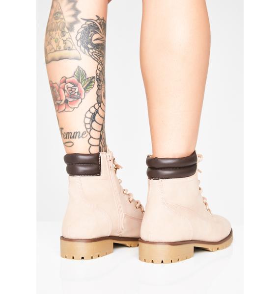 Blush Busy Dayz Work Boots