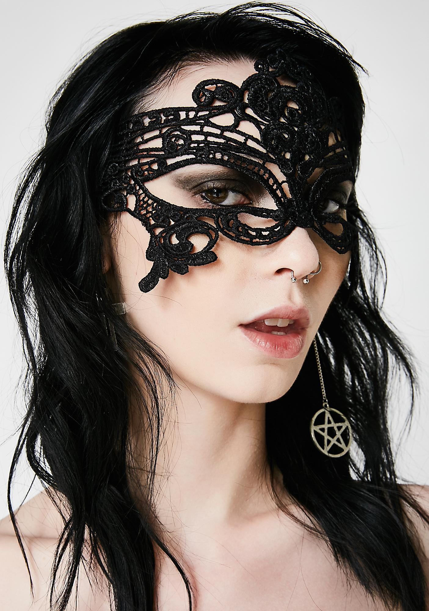 So Mysterious Lace Mask