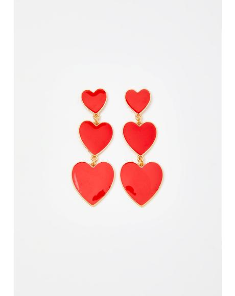 My Only Desire Heart Earrings