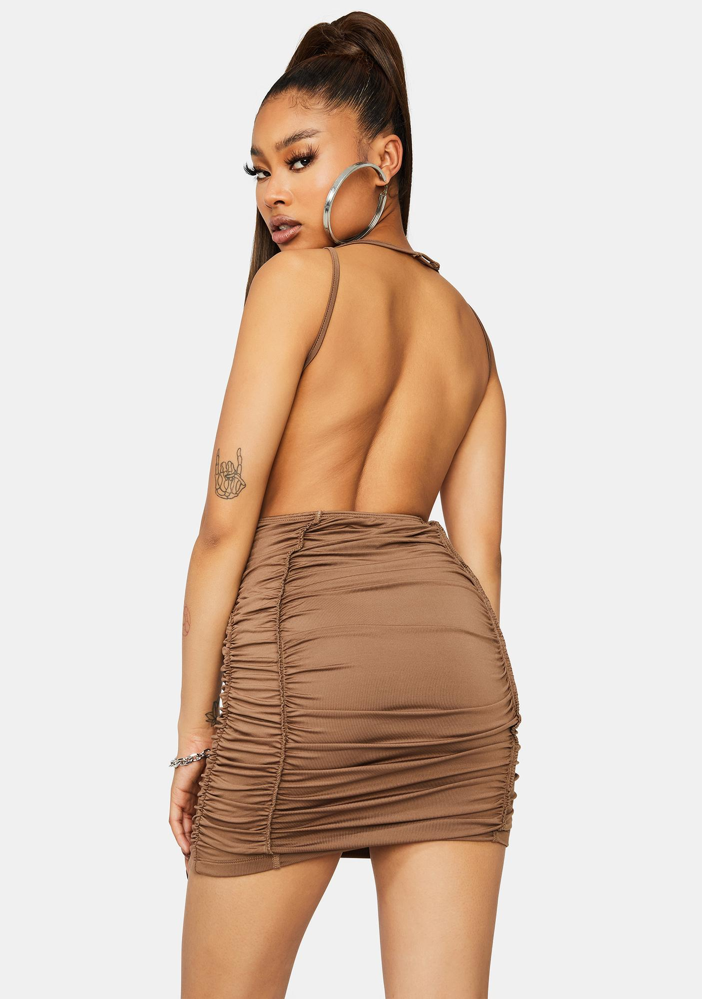 Five Star Flavor Ruched Bodycon Dress