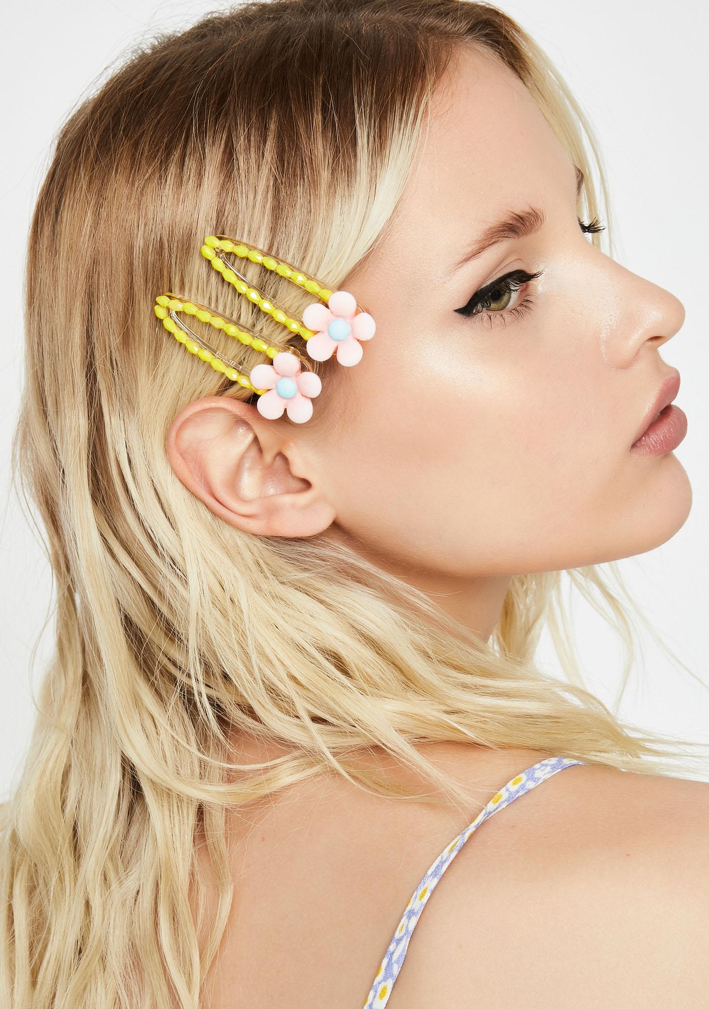 Lolly Daised Flower Hair Clips