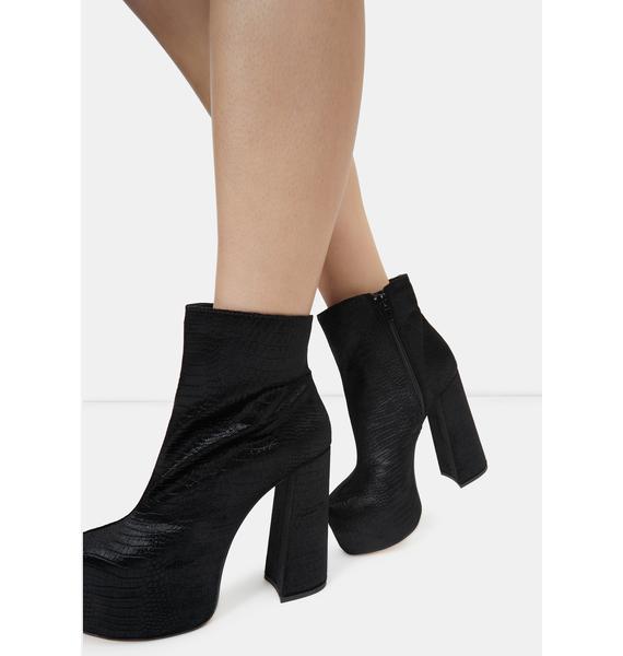 Lemon Drop by Privileged Black Kareen Ankle Boots