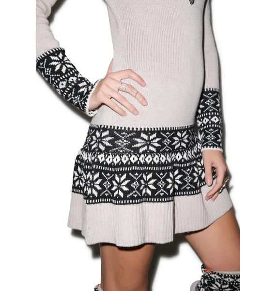 For Love & Lemons Snowflake Mini Dress