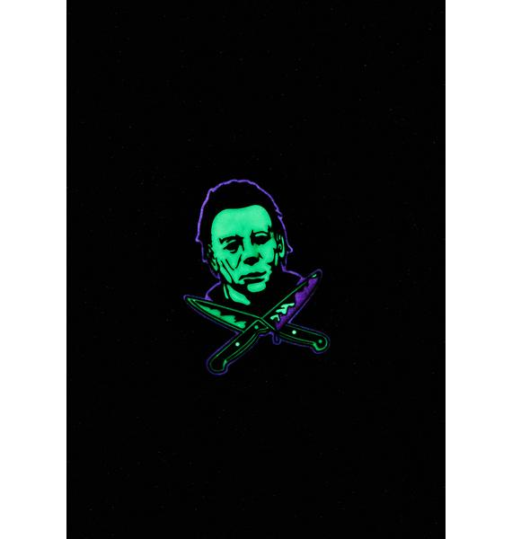 Rock Rebel Michael Myers Glow In The Dark Pin