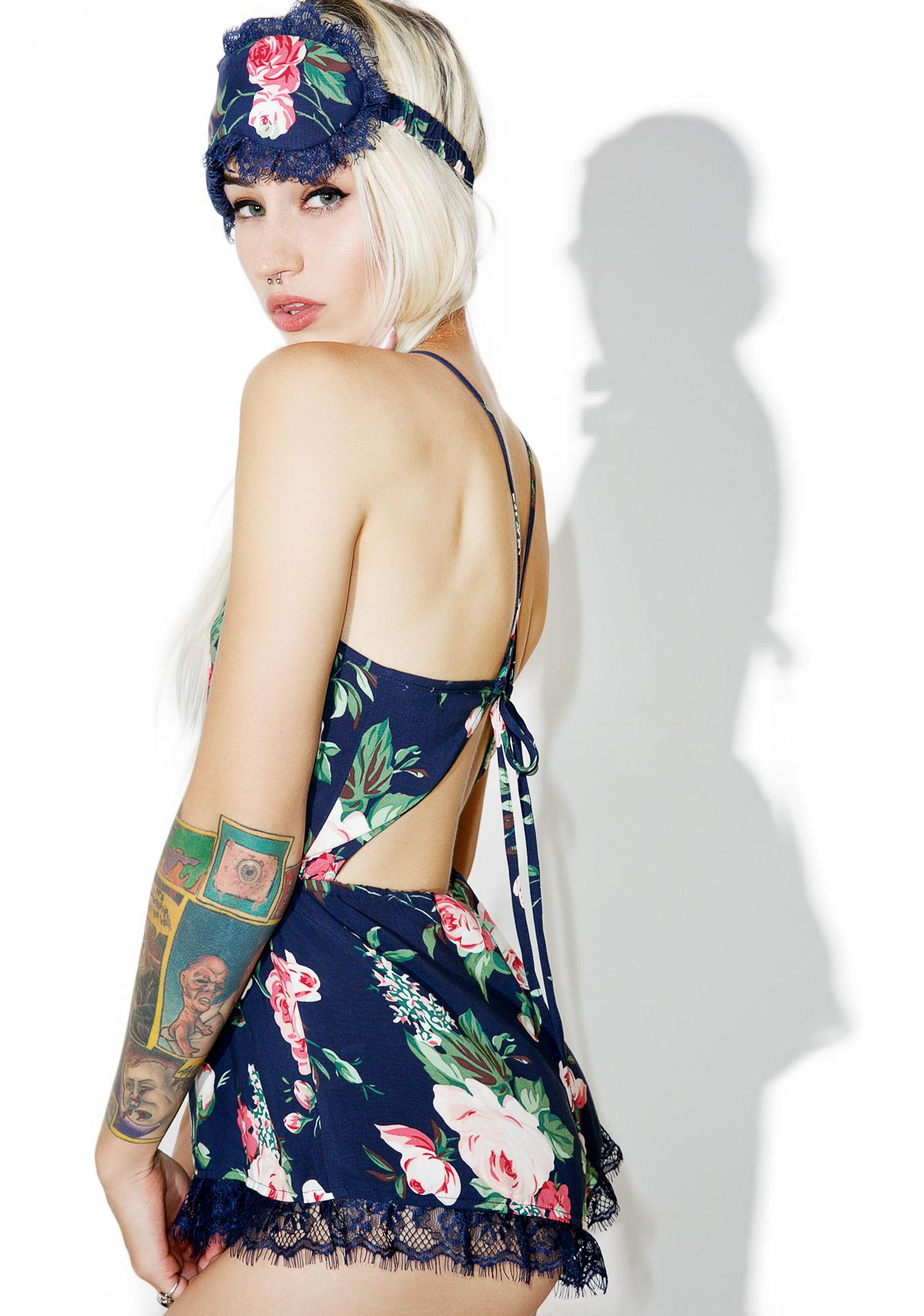 Wildfox Couture Gypsy Rose Open Back Romper