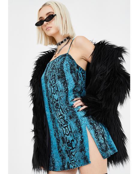 Blue Snake Datista Dress