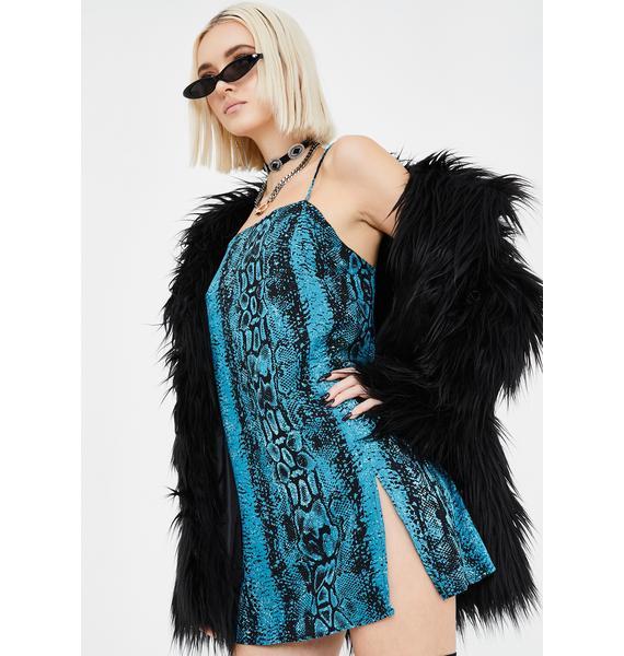 Motel Blue Snake Datista Dress