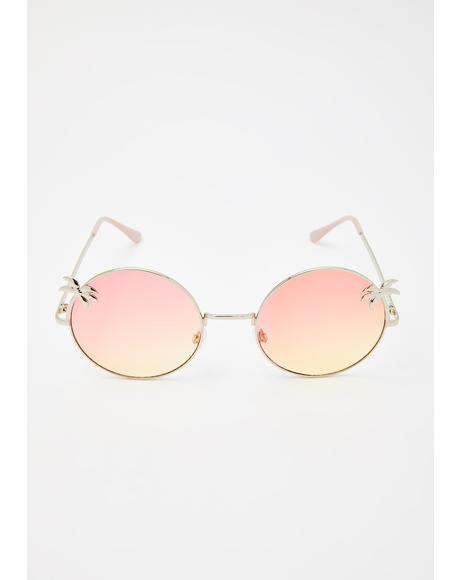 Palm Dreams Circle Sunglasses