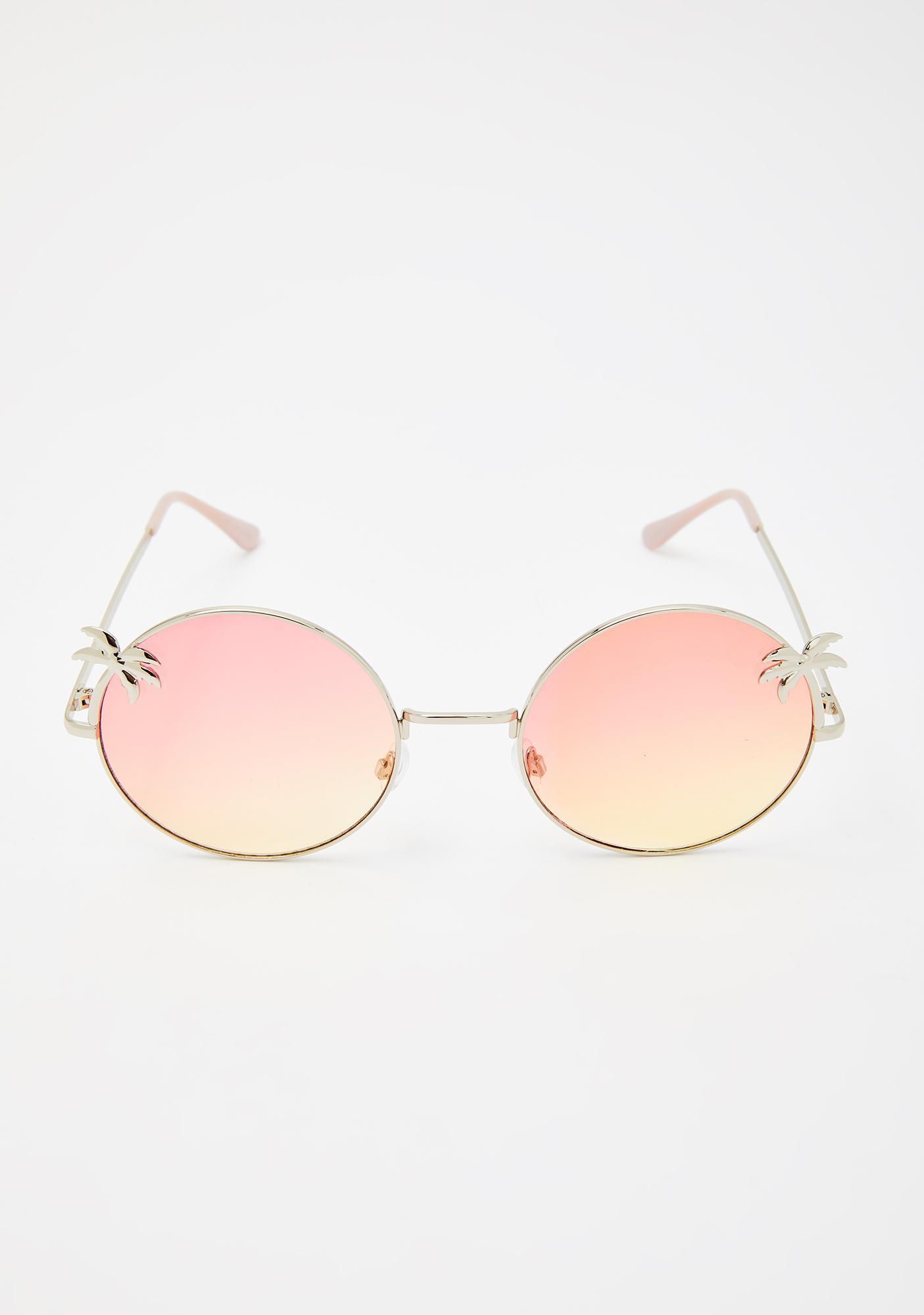 Palm Dreams Circle Sunglasses