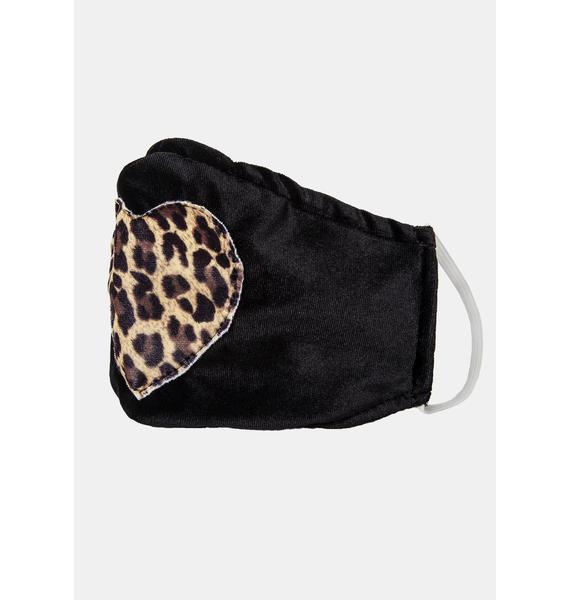 ESQAPE Leopard Heart Face Mask