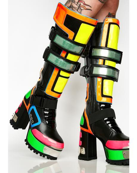 Cybertron Babe Platform Boots