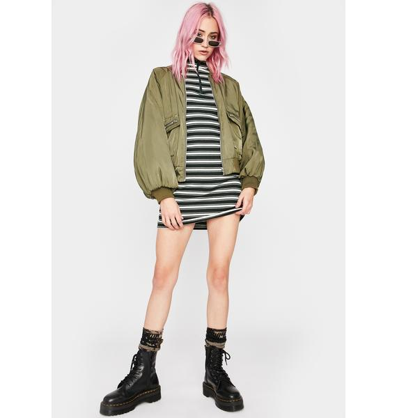 Can't Stop Me Striped Mini Dress