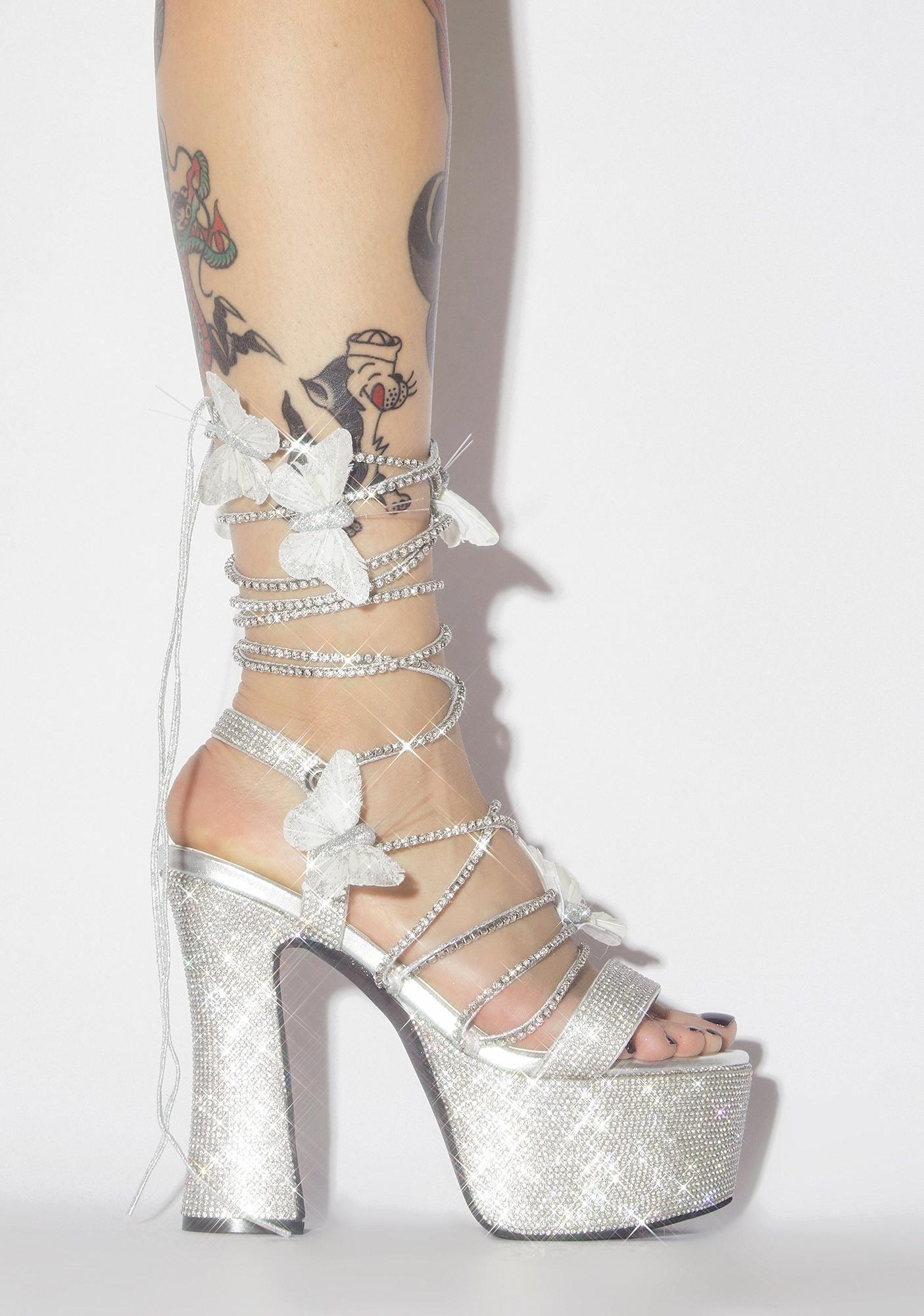 Lace Platform Heels