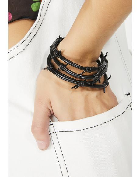 Bad Vibrations Barbwire Bracelet Set
