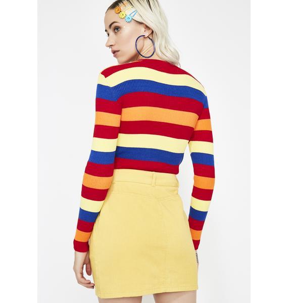Bodak Bardi Gang Denim Skirt